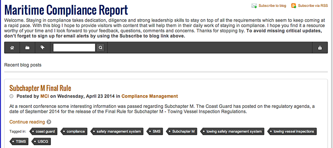 Maritime Compliance Report
